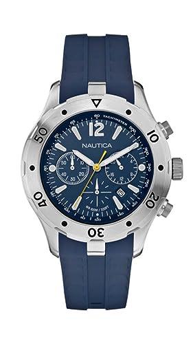47a4c9e00f24 Reloj NAUTICA NST Chrono 401 azul marino Blue A20112G  Amazon.es  Relojes
