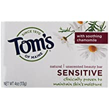 406082-Tom's of Maine Natural Beauty Bar Sensitive Unscented - 4 oz - Case of 6 by Tom's Of Maine