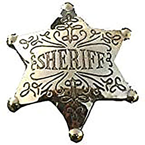 Costume Badge Ornate Brass Sheriff Old West Prop