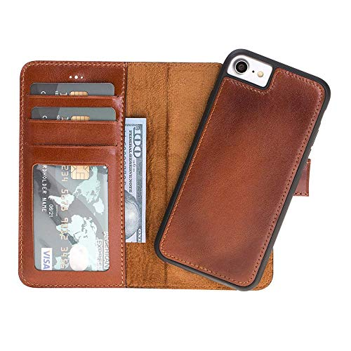 Custom Genuine Leather Handmade Wallet Case with Kickstand for iPhone Xs X   Xs Max   XR 8 7   8 Plus   7 Plus, Galaxy S8 S8+ S9 S9+ - Custom Case Leather