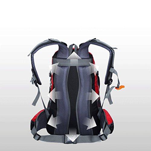 40l La nueva marca de escalada al aire libre profesional bolsa de deporte Bolsas de viaje repelente al agua montar negro