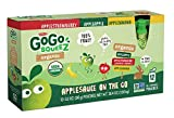 GoGo SqueeZ Organic Applesauce on the Go, Variety Pack (Apple Apple/Apple Banana/Apple Strawberry), 3.2 Ounce Portable BPA-Free Pouches, Gluten-Free, 12 Total Pouches