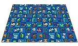 Alfombra para niños FE752-80Y Animals In The Forest Alfombra para área de nylon, 12 'x 18', multicolor
