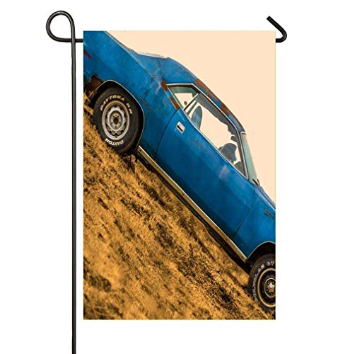 - HUNAFIVG Premium Decorative Flags for Outdoors, Retro Car Lodge Prints Home Garden Decorative Happy St Patrick's Day Garden Flag