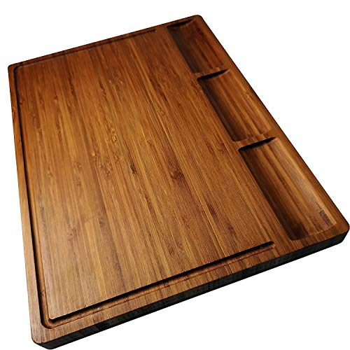 Large Bamboo Wood Cutting Board for Kitchen