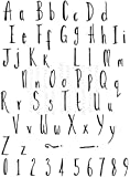 Lindsay Mason Designs LM-Skinny-Tampon Transparent-Alphabet
