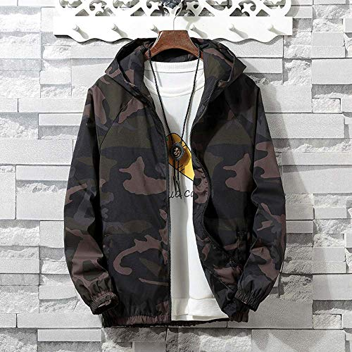 7a23dcad1ae1 Teresamoon Mens Autumn Winter Zip Camouflage Long Sleeve Pocket Sport  Hoodies Jacket Coat