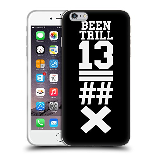 Official Been Trill Black X Jersey Soft Gel Case for Apple iPhone 6 Plus / 6s Plus