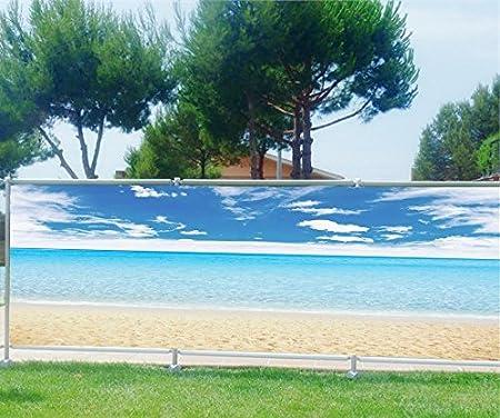 Ocultación (Imprimé, jardín, terraza, balcón Déco mar playa, plástico tela, 100%, 300 x 117 cm: Amazon.es: Hogar
