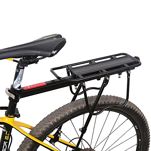 ESHION Bike Rear Rack Carry Carrier Holder Seatpost Mount Quick Release Max Load Support110Lb(50kg)[US STOCK]