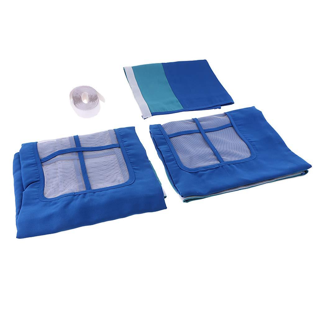 Fenteer Spielvorhang Bettvorhang Vorhang für Hochbett Rutschbett Kinderbett - Tiefes Blau