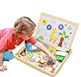 ODDODDY Toys for Girls Boys Kids Children Toddlers Educational Toys Wooden Magnetic Drawing Board Puzzles Games Learning for Kids Age 4 5 6 7 8 9 10 Year Old Gift Idea (Animals)