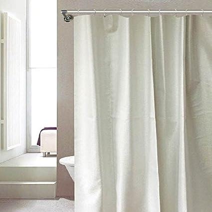 Amazon Serenity Dobby Design Metallic Shimmer Shower Curtain