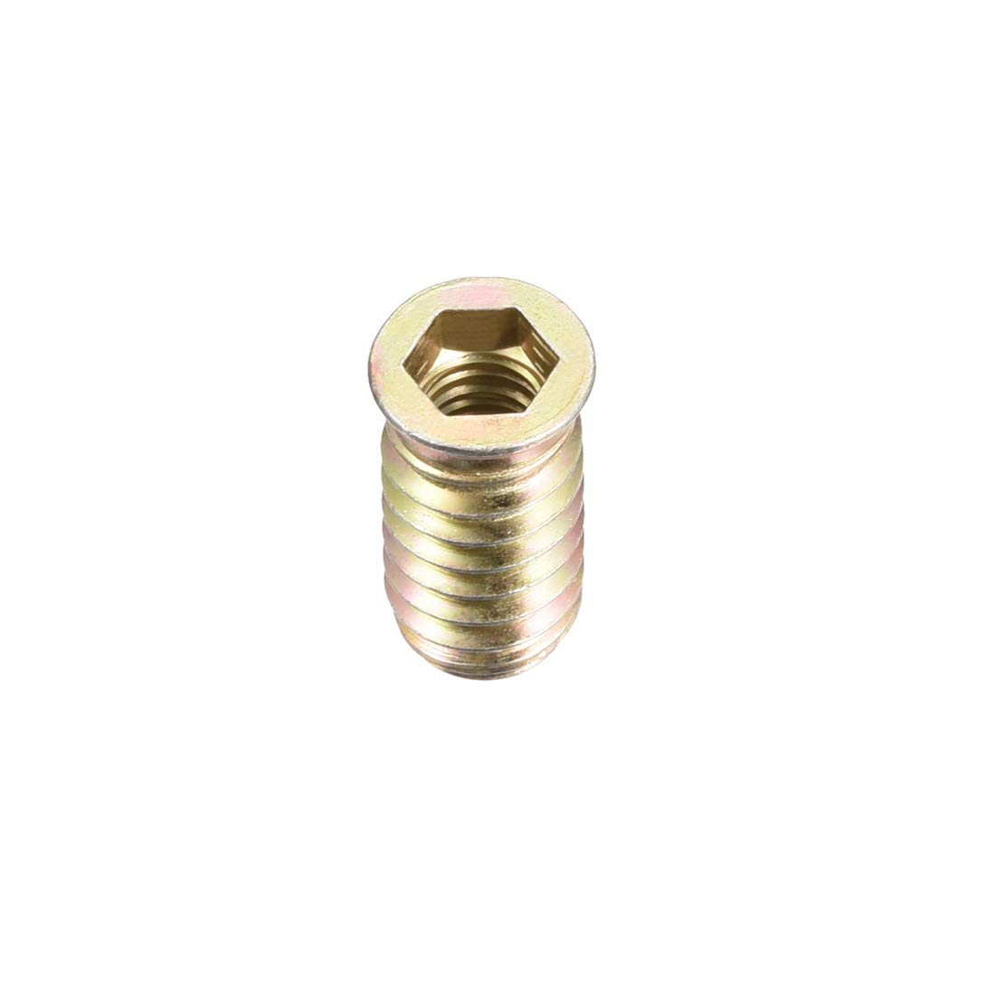 uxcell Wood Furniture M8x25mm Threaded Insert Nuts Interface Hex Socket Drive 50pcs by uxcell
