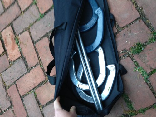 Trademark Innovations Pro Horseshoe Set - Powder Coated Steel with Carry Case by Trademark Innovations (Image #3)
