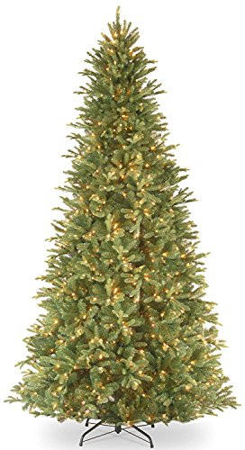 12' Pre-Lit Tiffany Fir Artificial Christmas Tree - Clear Lights