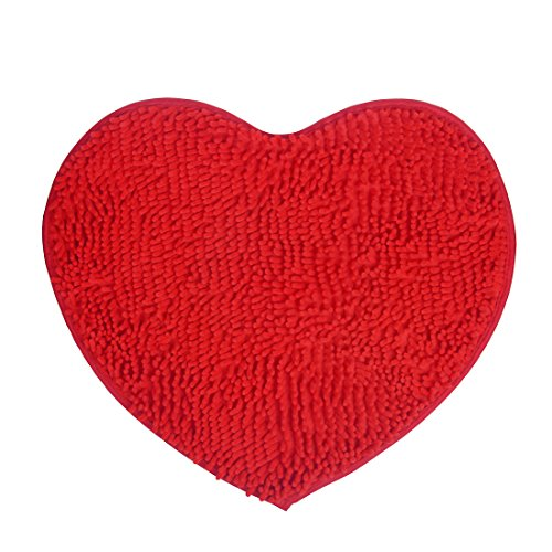 Area Rug,Fluffy Doormats Carpet Decor,Bright Red Heart Love Shape(20'' x 24'' )