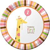 Creative Converting Sweet at One Girls Round Dinner Plates, 8 Per Package