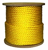 Rope King TP-12400Y Twisted Poly Rope - Yellow - 1/2 inch x 400 feet