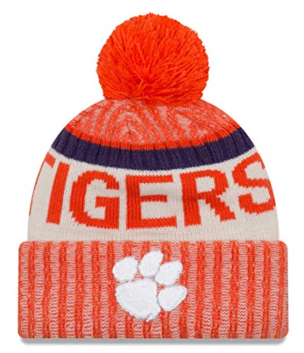 New Era Clemson Tigers NCAA NE17 Sport Knit Hat with Pom