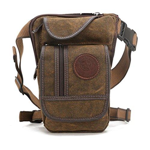 Vintage Canvas Military Messenger School Bags Day Pack Waist Leg Bag - 5 Maroon Sunglasses