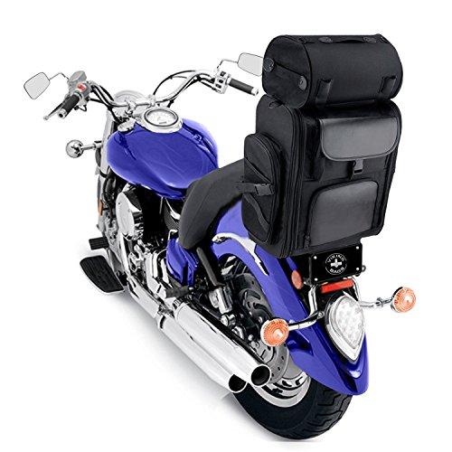 Leather Motorcycle Luggage Rack Bag - 3