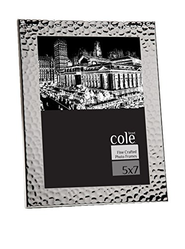 Philip Whitney 5x7 Hammered Silver Photo Picture Frame Standing Horizontal or - Photo Frame Hammered