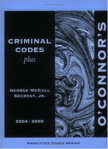 Download O'Connor's Texas Criminal Codes Plus 2004-2005 PDF