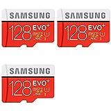 3 x Quantity of GoPro Hero 4 Black Samsung 128GB EVO Plus Class 10 Micro SDXC with Adapter 80mb/s (MB-MC128DA/AM)
