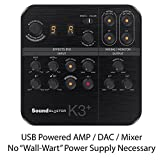 live sound equipment mixers - Creative Sound Blaster K3+ Audio Interface and Mixer for Live Streaming and Recording with XLR, Phantom Power, Auto-Tune, Dual Headphone Monitoring, and Reverb Effects