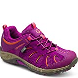 Merrell Chameleon Low Lace Waterproof Hiking Shoe (Little Kid/Big Kid), Fuchsia/Orange, 7 M US Big Kid