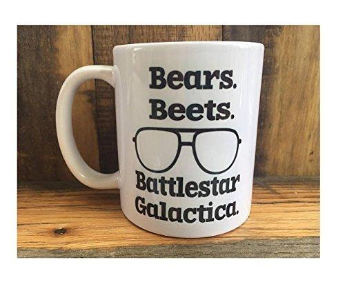 Bears, Beets, Battlestar Galactica Mug, The Office Mug, Dwight Schrute Quotes, Unique Mug, Coffee Tea Mug, Coffee Tea Cups, 11oz 15oz, Gift for Friends