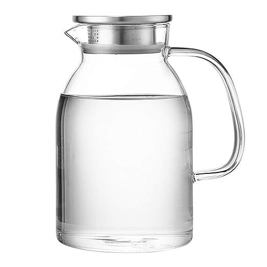 MFJTB 1800 Jar ml de Agua Vidrio borosilicato y Tapa de Acero ...