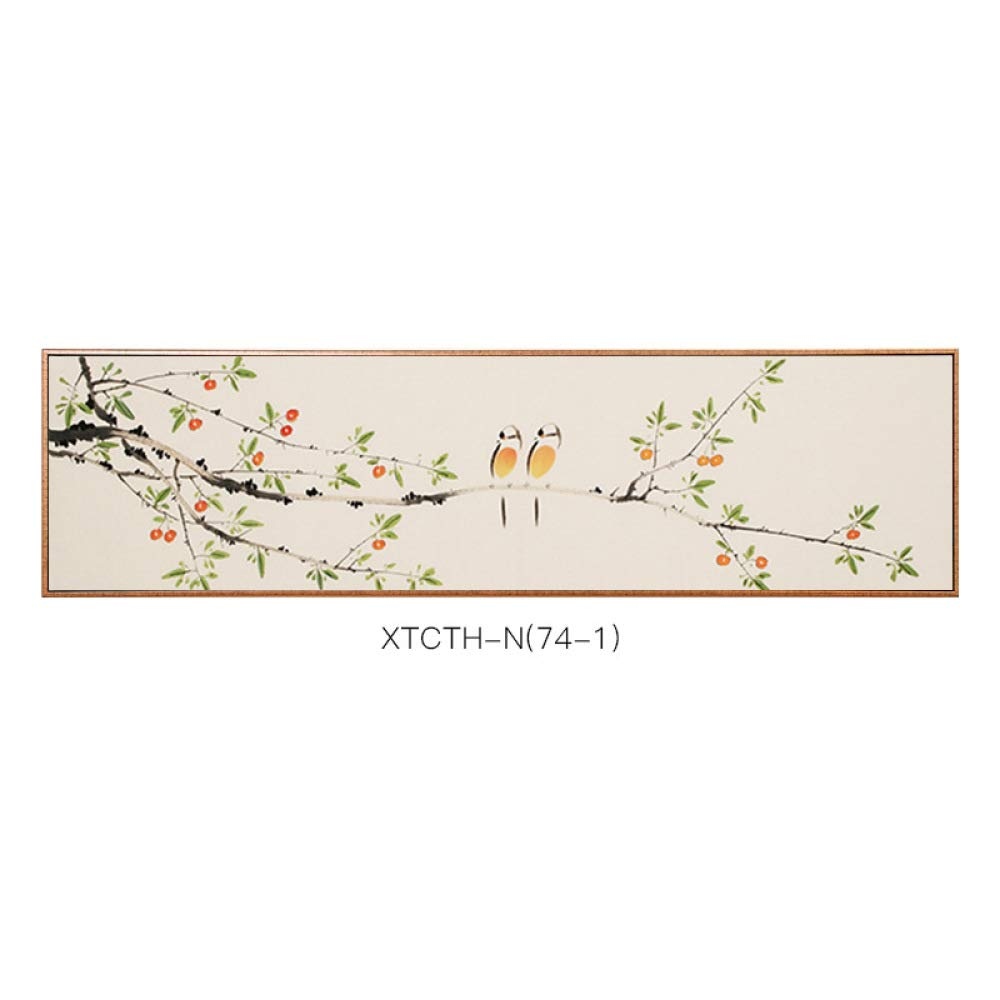 SED Modern Chinese-Style Flower and Bird Decorative Painting, Elegant and Nostalgic Living Room Paintings, Corridor Porch Study Background Decoration Painting,C,35135cm by SED