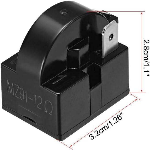 Sourcingmap 12 Ohm 1 Pin Kühlschrank Ptc Startrelais Für Kompressor Schwarz Beleuchtung