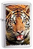 Tiger Zippo Outdoor Indoor Windproof Lighter Free Custom Personalized Engraved Message Permanent Lifetime Engraving on Backside