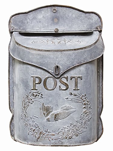 CWI Gifts Metal Post Box with Bird, 10 3/4