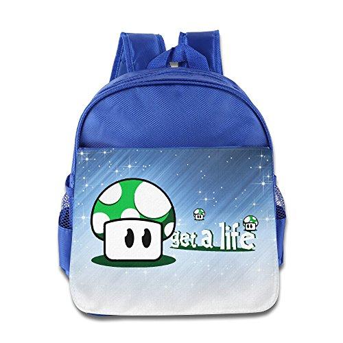 ELF STORY - Cute Mushrooms Get A Life Little Kid Baby Boys Girls Toddler Backpack Bag RoyalBlue (Cute Mushroom Costume)