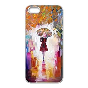 Abstract rainy street beauty Phone Case for iPhone 5S(TPU)