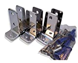 Chrome Plated Zamac Urinal Screen Brackets - 3/Pk - for 1-1/4'' Restroom Partition Panels