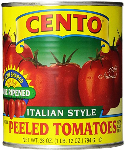 Cento Italian Style, Peeled Plum Tomatoes with Basil Leaf, 28 oz ()