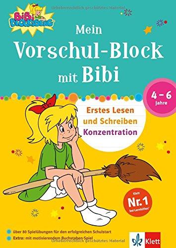 Mein Vorschul-Block mit Bibi Blocksberg: Erstes Lesen und Schreiben, Konzentration. 4-6 Jahre