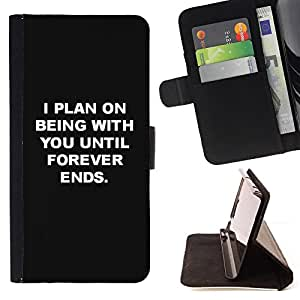 Jordan Colourful Shop - Being With You Love Black White Inspiring For Apple Iphone 4 / 4S - Leather Case Absorci???¡¯???€????€???????