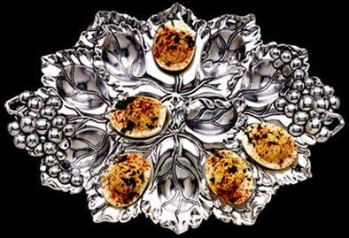 Arthur Court Designs Grape 12 Slot Deviled Egg Holder by Arthur Court
