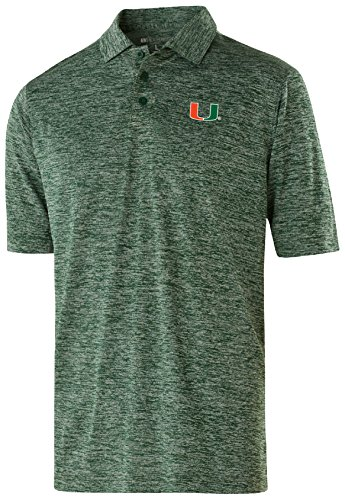 NCAA Miami Hurricanes Adult Men Holloway Electrify 2.0 Polo  Large