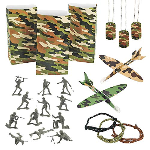 Camouflage Army Toy Party Favor Assortment - 72 -