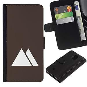 Planetar® Modelo colorido cuero carpeta tirón caso cubierta piel Holster Funda protección Para Samsung Galaxy S5 Mini / SM-G800 (Not For S5!!!) ( Pyramids Egypt Minimalist Brown )
