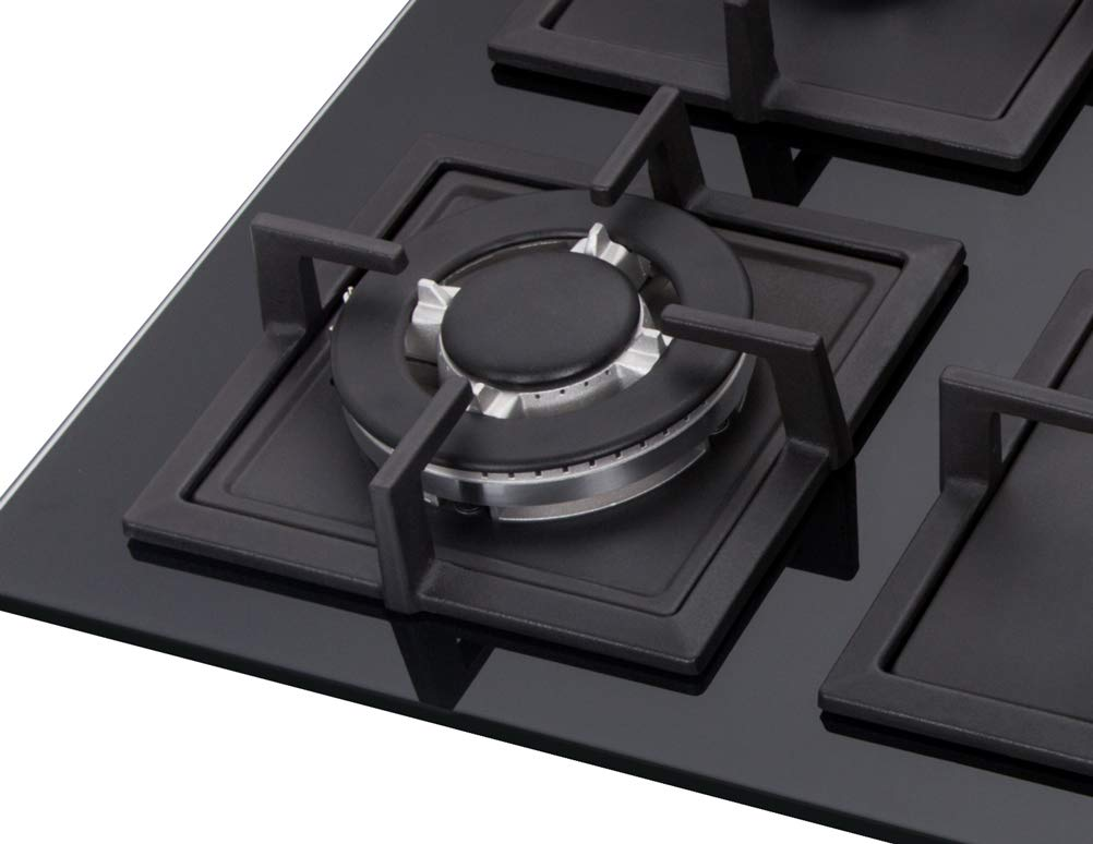 K/&H 4 Burner 24 NATURAL Gas Glass Cooktop 4-GCW