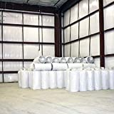 200 sqft 1/8'' (4x50) SOLID White Vapor Barrier Warehouse Storage Insulation