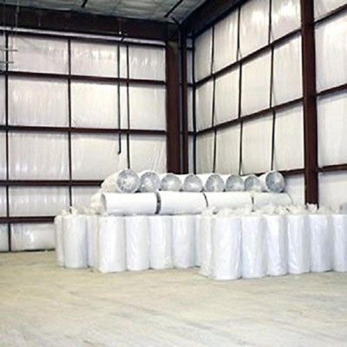 200 sqft 1/8'' (4x50) SOLID White Vapor Barrier Warehouse Storage Insulation by AES Industries